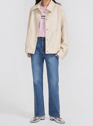 Closet Fake Leather Jacket
