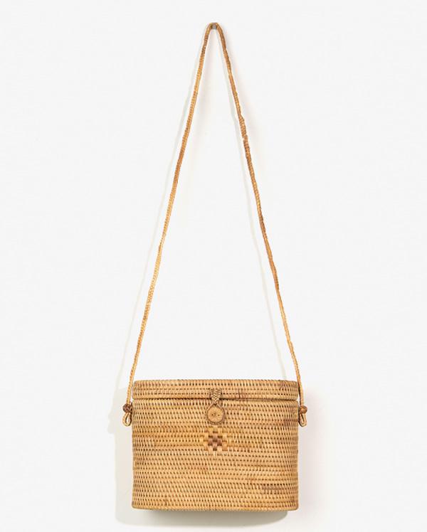 AIN - BRAND - Korean Fashion - #Kfashion - Nature Bamboo Box Bag