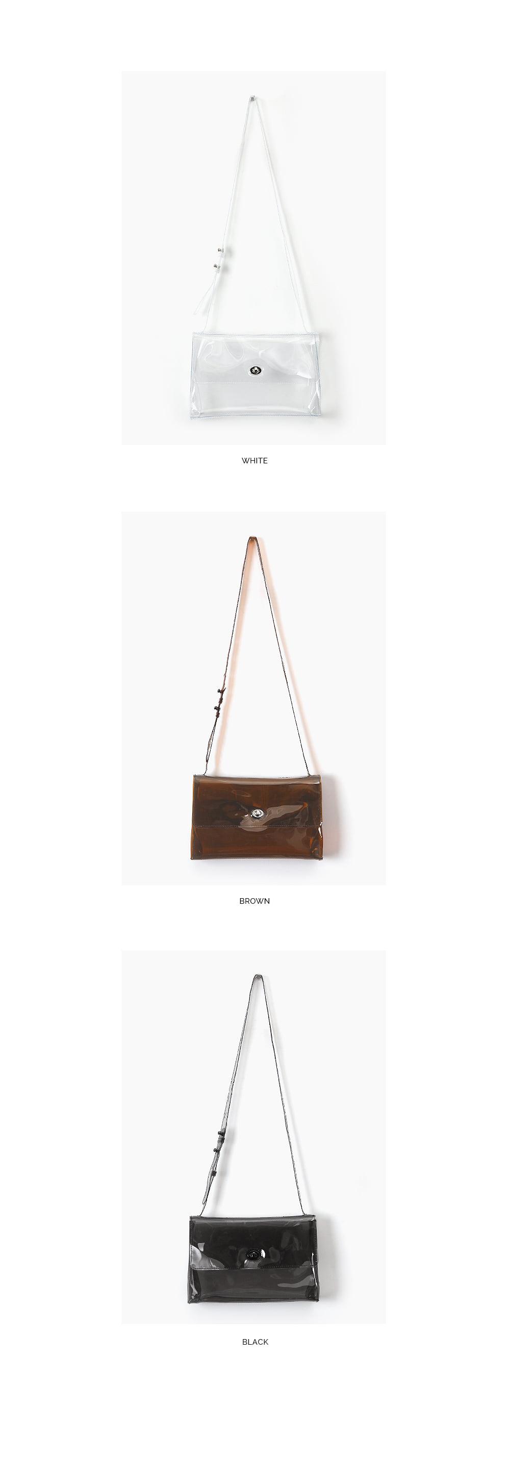 AIN - Korean Fashion - #Kfashion - Cleanly Pvc Shoulder Bag