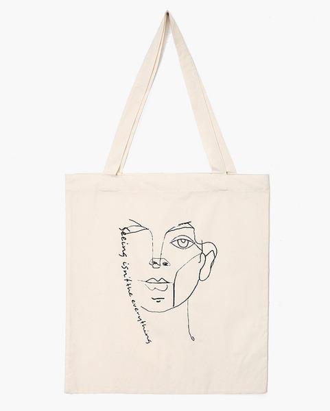 Ain Brand Korean Fashion Kfashion Unique Drawing Eco Bag