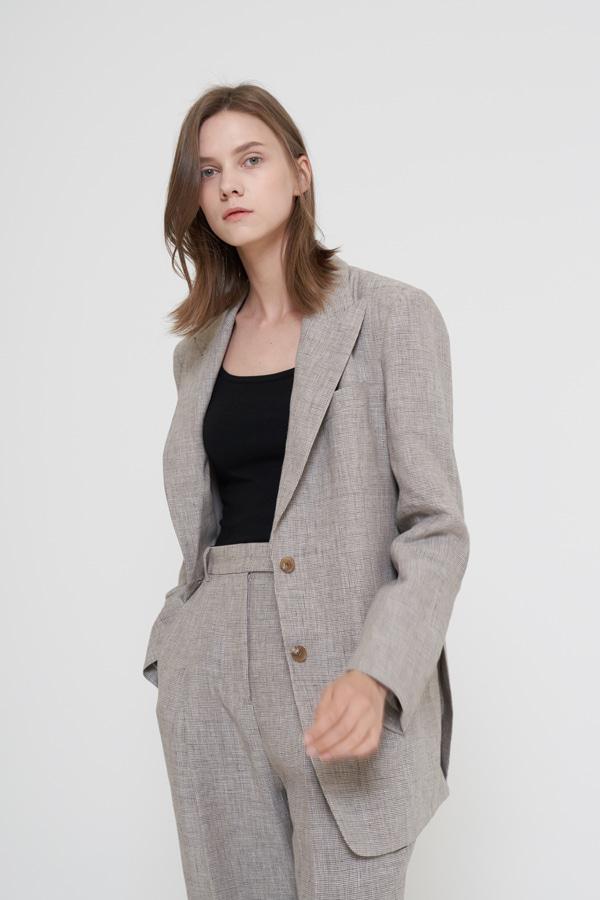 BLOSSOM - Korean Fashion - #Kfashion - Brown Linen Pants [set of 2]