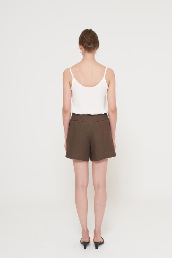 BLOSSOM - Korean Fashion - #Kfashion - Milla Tuck Short Pants [set of 2]