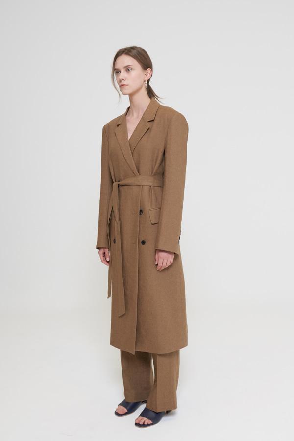 BLOSSOM - Korean Fashion - #Kfashion - Robin Linen Coat [set of 2]
