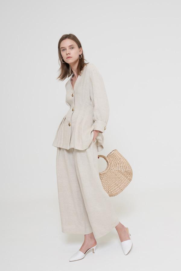 BLOSSOM - Korean Fashion - #Kfashion - Haper Linen Pants [set of 2]